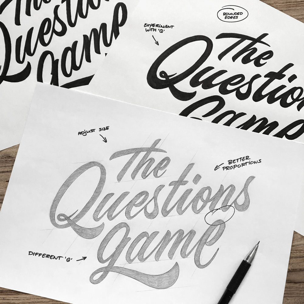 THE QUESTIONS GAME  LOGO DESIGN