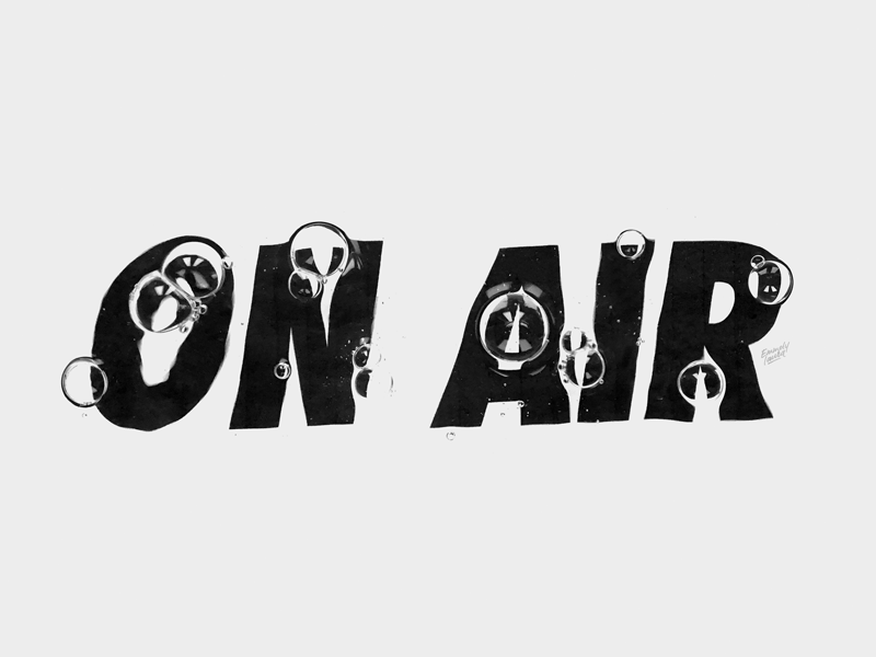 ON AIR  LETTERING