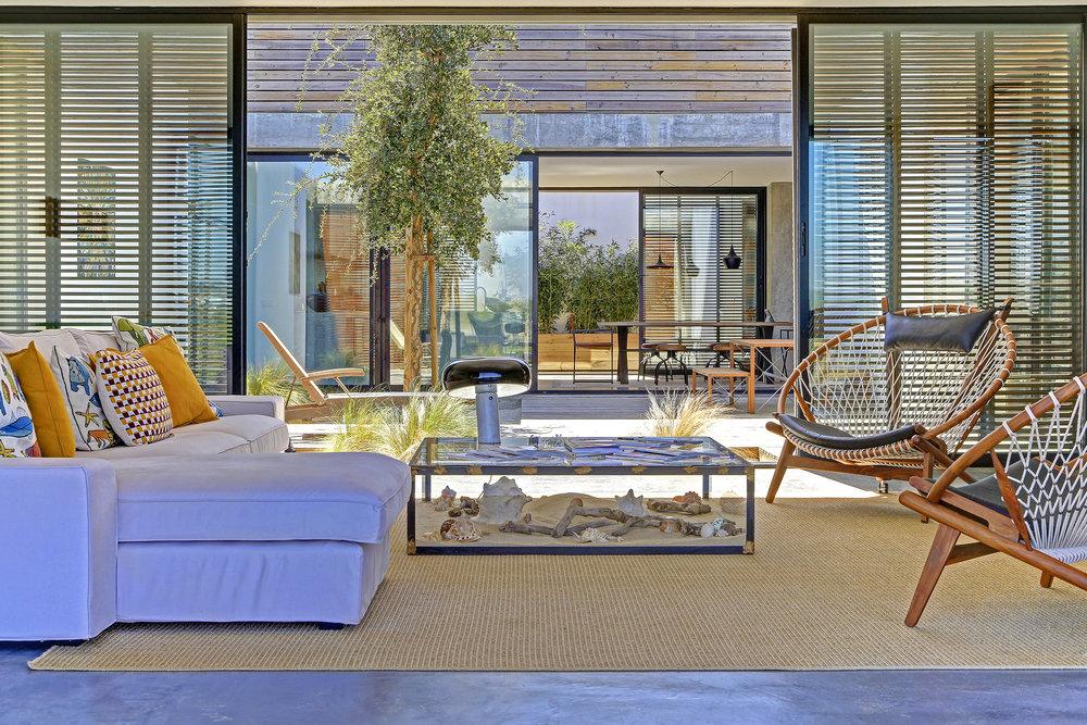 Casa do Pego Living Room and Patio - www.casadopego.com