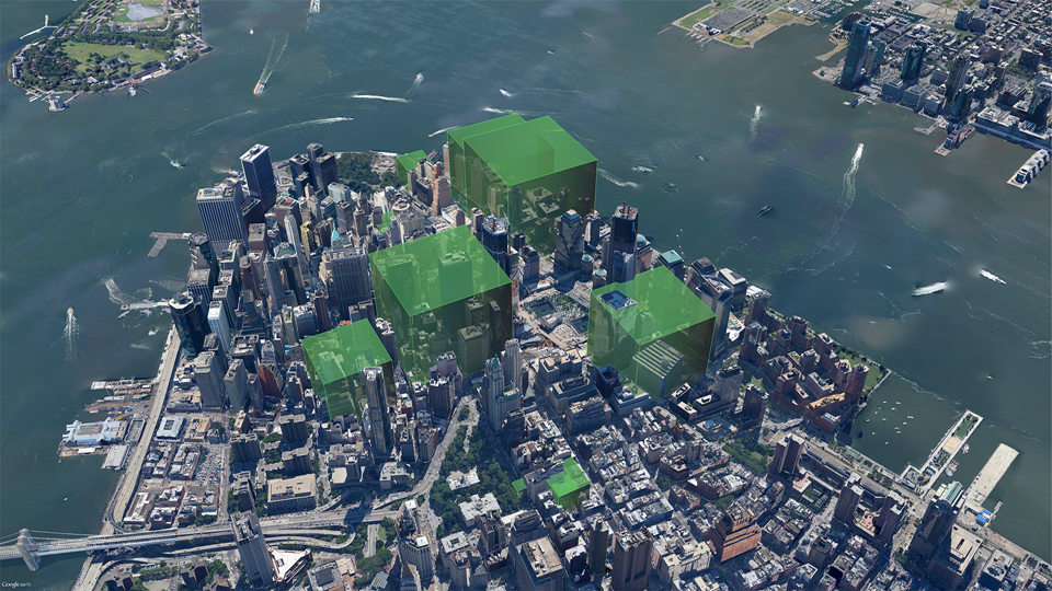 Daily PM2.5 emissions from buildings in Lower Manhattan AFTER conversion