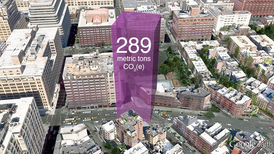 Emissions from a single building:Tony Dapolito Recreation Center, Clarkson Street, Manhattan