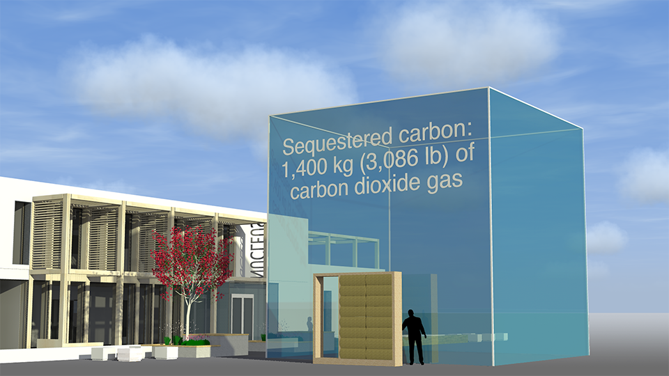 Total sequestered carbon in one Modcell panel