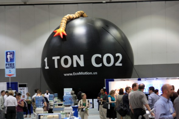 THE Ton displayed at the annual conference of the Association for the Advancement of Sustainability in Higher Education in Los Angeles, 2012