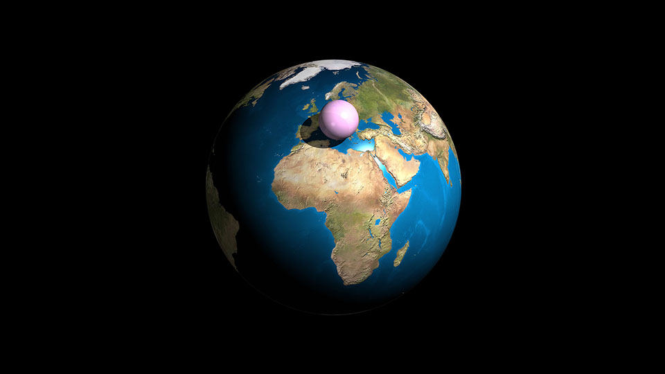 All the air: All the air in the atmosphere (5140 trillion tonnes) gathered into a ball at sea-level density. The sphere is 2,000 km across. Air gets thinner the further you are from the surface of the Earth. Half the air in the atmosphere lies within 5.5 km of the ground.