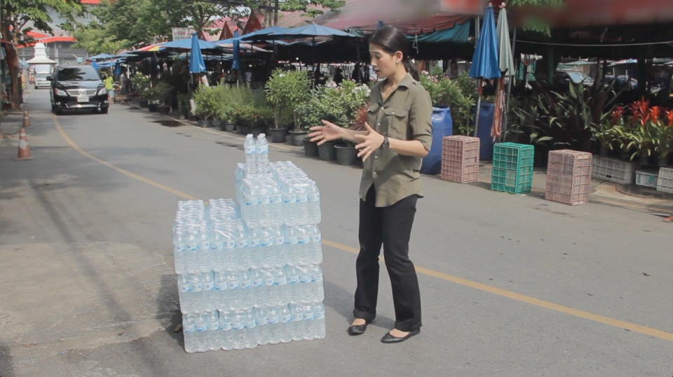 Image from film: Actual volume of water used in Thailand to generate one dollar of GDP