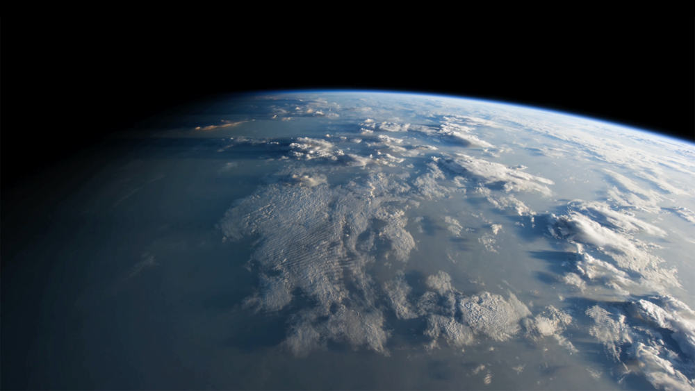 Image from 'Precious Ozone' film - footage from the International Space Station.
