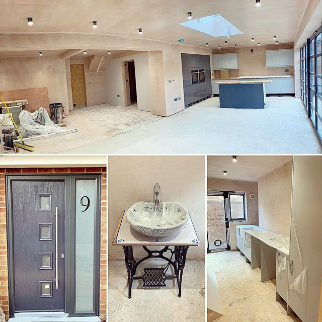 The fit out phase is well under way on one of our residential extension and complete refurbishment projects #construction #refurbishment #refurb #builder #openplanliving #openplan #bifold #kitchen #utility #newhome #buildersofig #builders