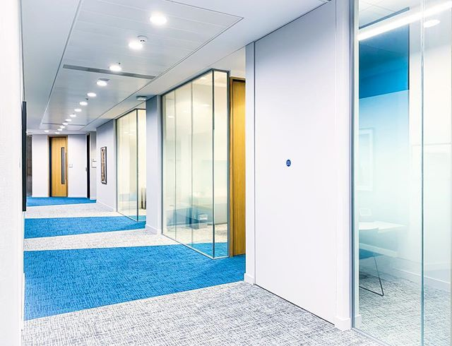Check out these Corridor refurbishments throughout multiple floors for one of our commercial clients in London #buildersofig #commercialconstruction #refurbishment #corridor #carpet #wallpaper #decorations #office #refurbish #builder #commercialbuilder #refurbspecialists