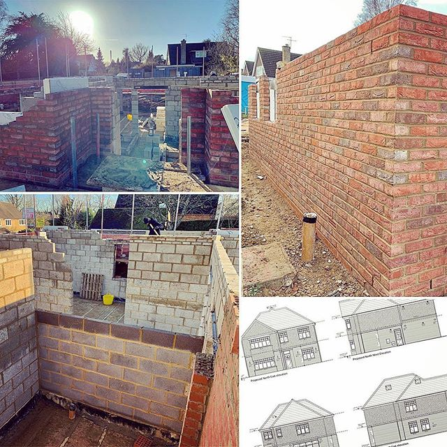 Despite the recent weather set backs, our new build is really starting to take shape 🏠 👌 #buildersofig #builder #newhome #residential #house #brickwork #scaffolding #architectplans #construction #dwelling #home #underconstruction