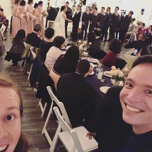 We were playing music at a coffee shop on their first date, and tonight we played their wedding. Congratulations @whatwouldangela_du and @mrbigliu! ❤️ #duliuwedding #yorkmanor @theyorkmanor