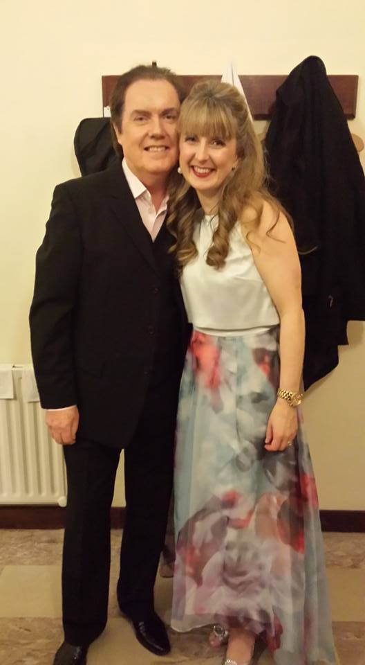 Sandra here pictured with showband legend Red Hurley at the interval of their performance