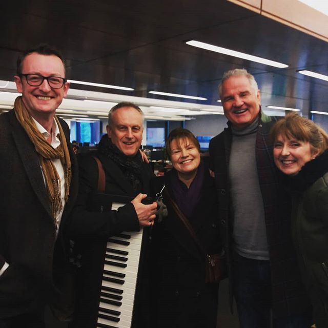 The gang's all here!!! Fun times @newstalkfm this morning, singing and chatting about our concert next Friday February 15th at 1pm @nationalconcerthall - ROMANZA - A Valentine's Celebration in Poetry and Song.  Myself, #bass John Molloy, pianist David Wray and #actress Mary McEvoy are picture here with #rugby #legend Brent Pope post broadcast.  A few tickets left from 01-4170000 or www.nch.ie  #radio #television #media #communications #opera #concert #classicalmusic #soprano  @molloyjohn76 #sopranolife #musicals #valentinesday #romance