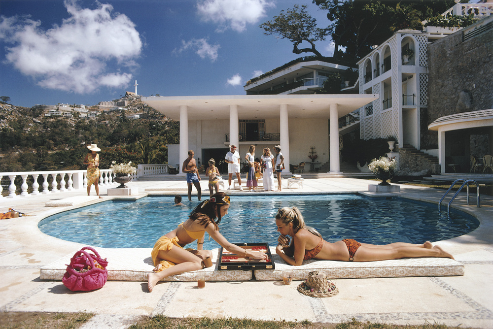 'Poolside' Guests at the Villa Nirvana, owned by Oscar Obregon, in Las Brisas, Acapulco, 1972.