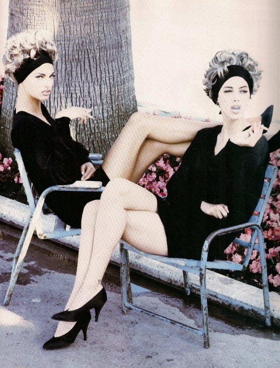 #TBT: Christy Turlington and Linda Evangelista for Vogue ...