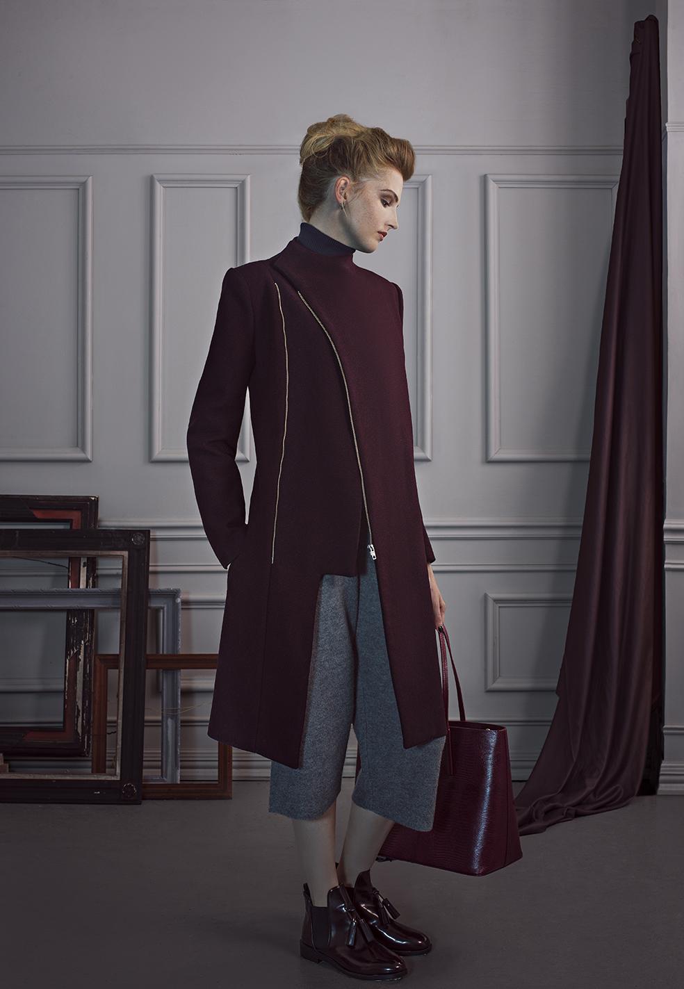 Coat Vielma London, Vest and Cullotes Topshop Unique, Polo neck Next, Shoes Zara, Bag Whistles