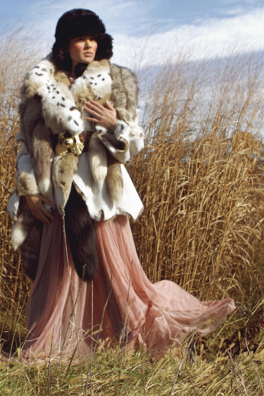 Fur coat by Regent Park, Fur by Teranchula, Gown by Shonney Designs, Fur hat by Ke Collection