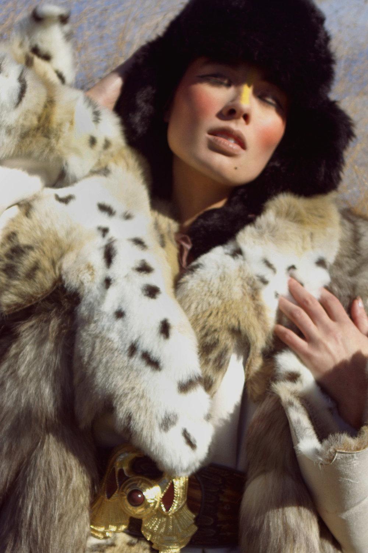 Fur coat by Regent Park, Fur by Teranchula,Fur hat by Ke Collection