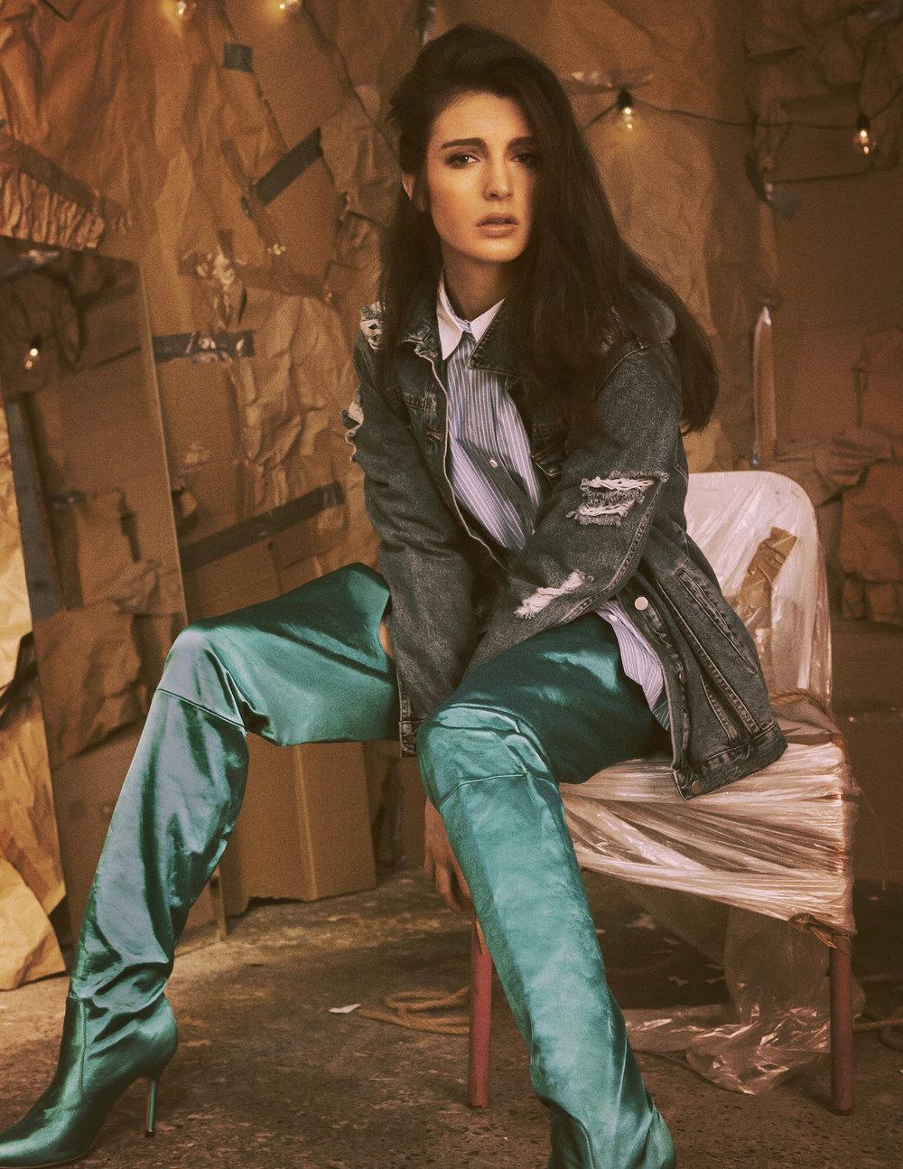 Boots Malan Breton  Denim jacket Jayne Pierson Shirt Stylists own