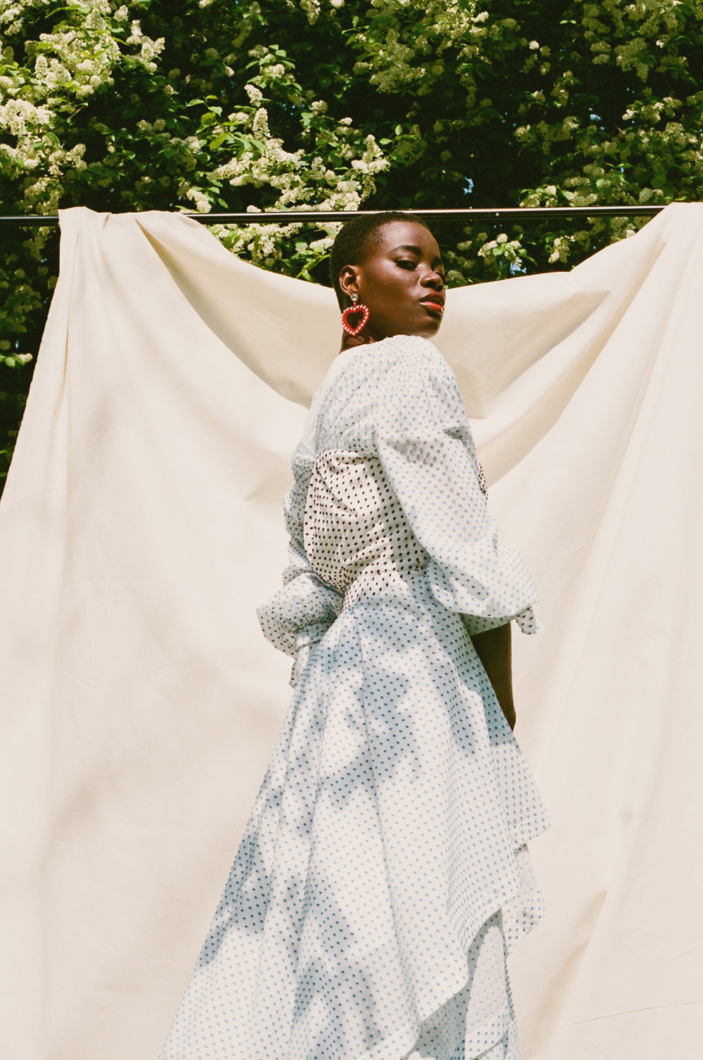 Earrings - Jennifer Loiselle  Dress -Teija