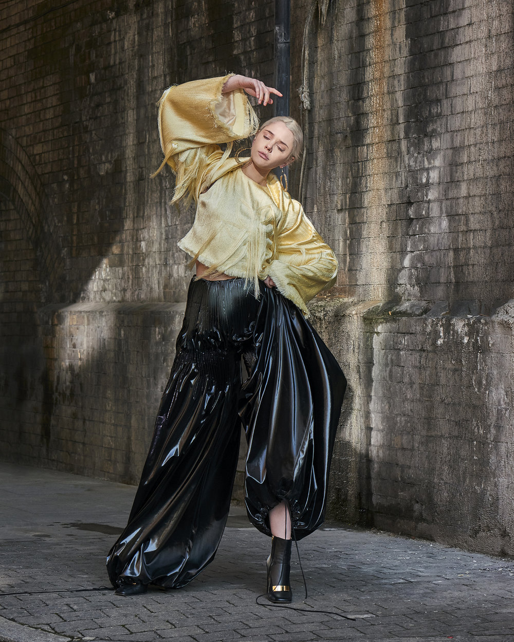 Top Trousers (worn as sleeves) and Trousers  Xu Chi