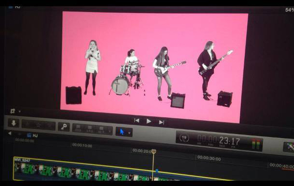 "Hen-Jenny's ""Tyland"" video in the making..."