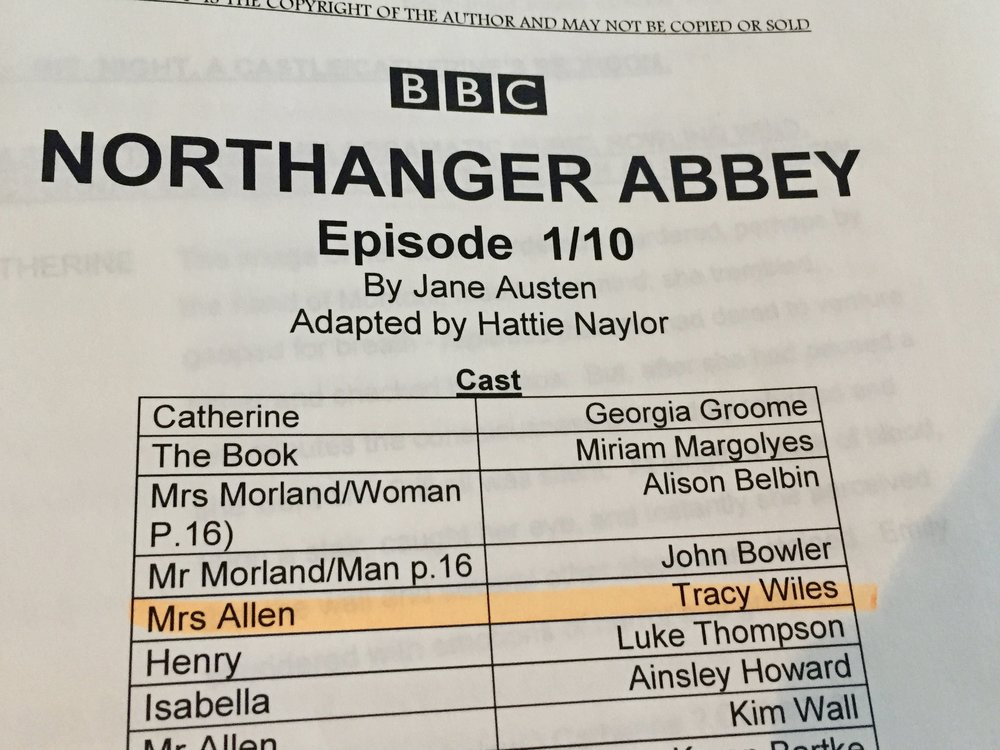 November 5th - Back to Maida Vale for 3 days to record Northanger Abbey for @bbcradiodrama and @sallyavens.