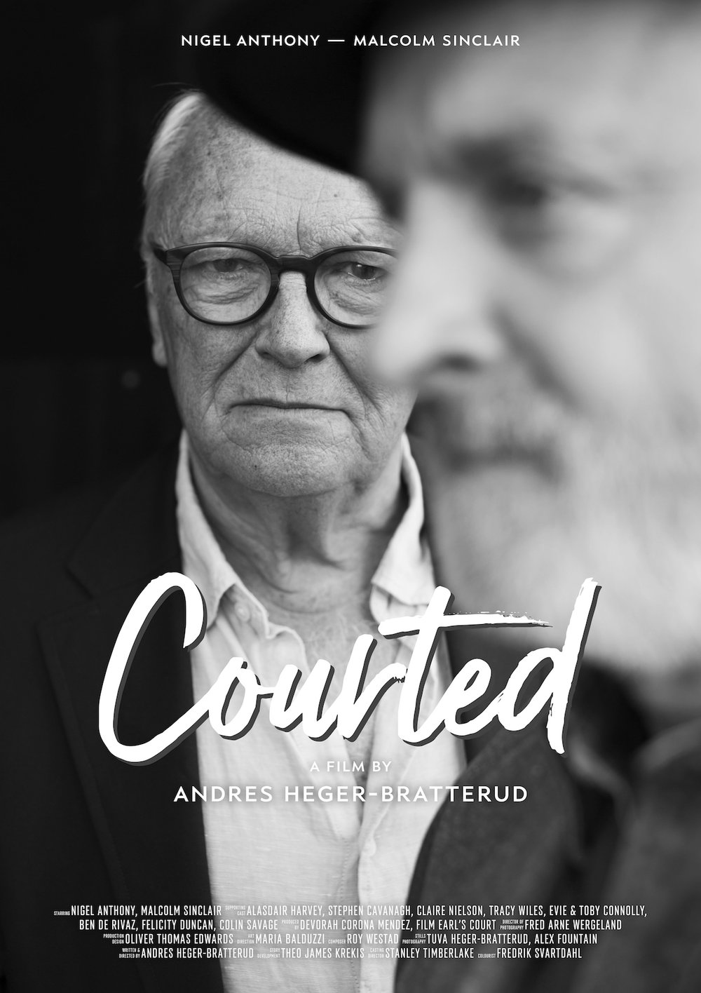 October 2017 - First poster for short film COURTED directed by Andres Heger-Bratterud premiering at The Earls Court Film Festival on 27th October.