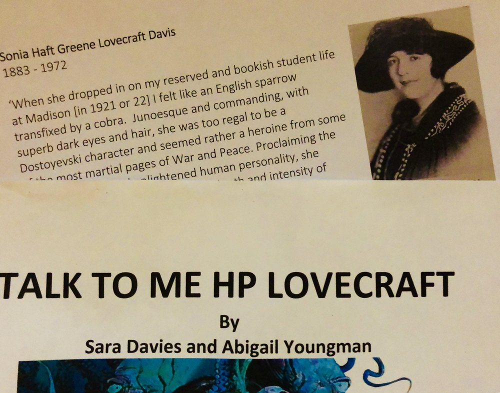 Playing Sonia Haft Greene Lovecraft Davies.