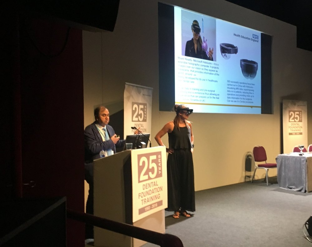 SmartDS supported Prof Pramod Luthra from HEE last week as he presented at the National Conference of Dentists in Salford.  Pramod is excited about our Mixed Reality experiences.