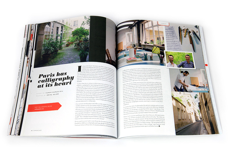 For Canadian based print magazine, we have conducted an interview at a Parisian calligraphy guild. Words by Canan and photography by Erinç.