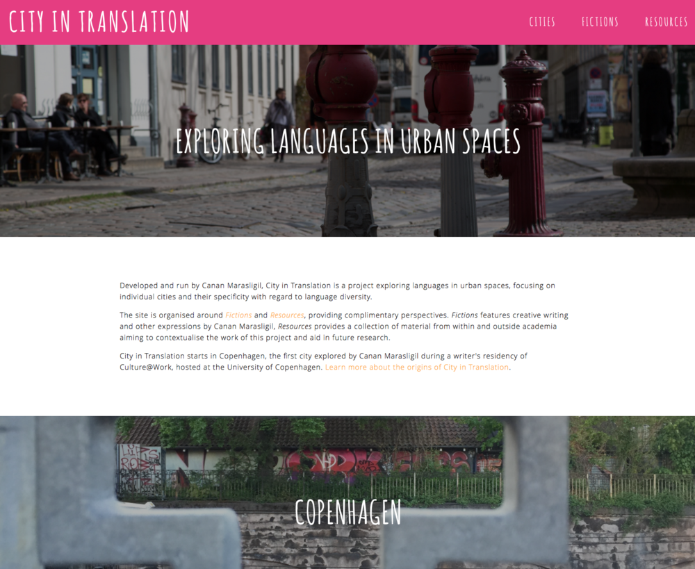 Canan has created the concept of the City in Translation project, which she owns, has designed the website and is responsible for the content.
