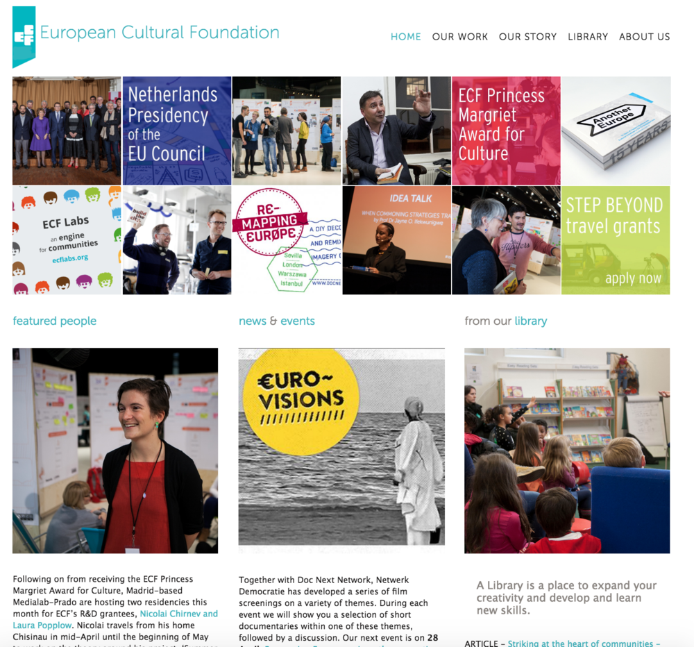 Canan has designed the European Cultural Foundation's website which launched in 2014.