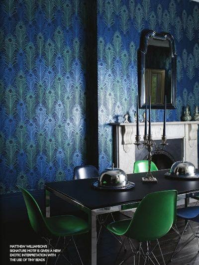 Matthew Williamson for Osborn & Little - Peacock Wallpaper