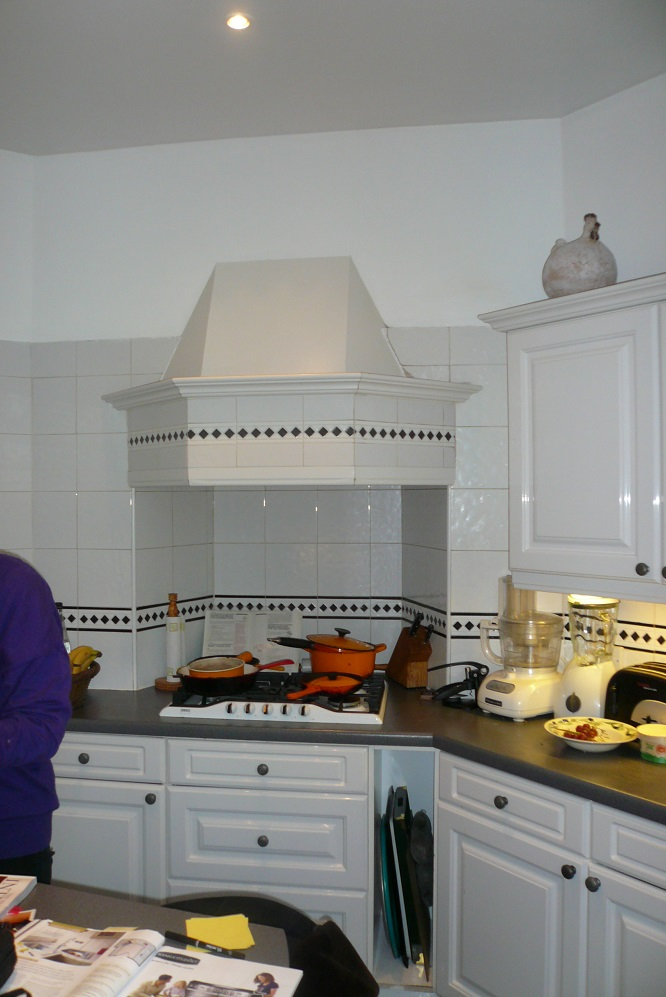 Before - Old Chimney breast in Kitchen