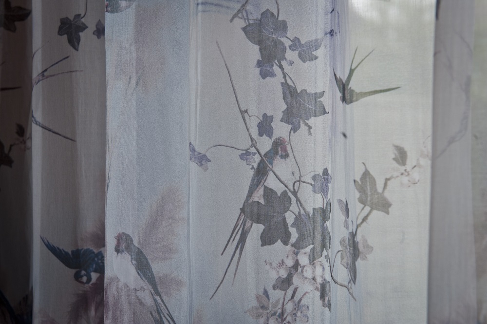 Jean Paul Gaultier fabric in curtains designed by Smartstyle Interiors