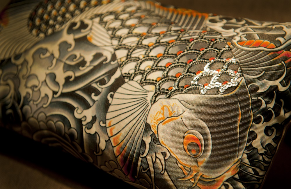 Jean Paul Gaultier fish Cushion in Smartstyle Interiors Room