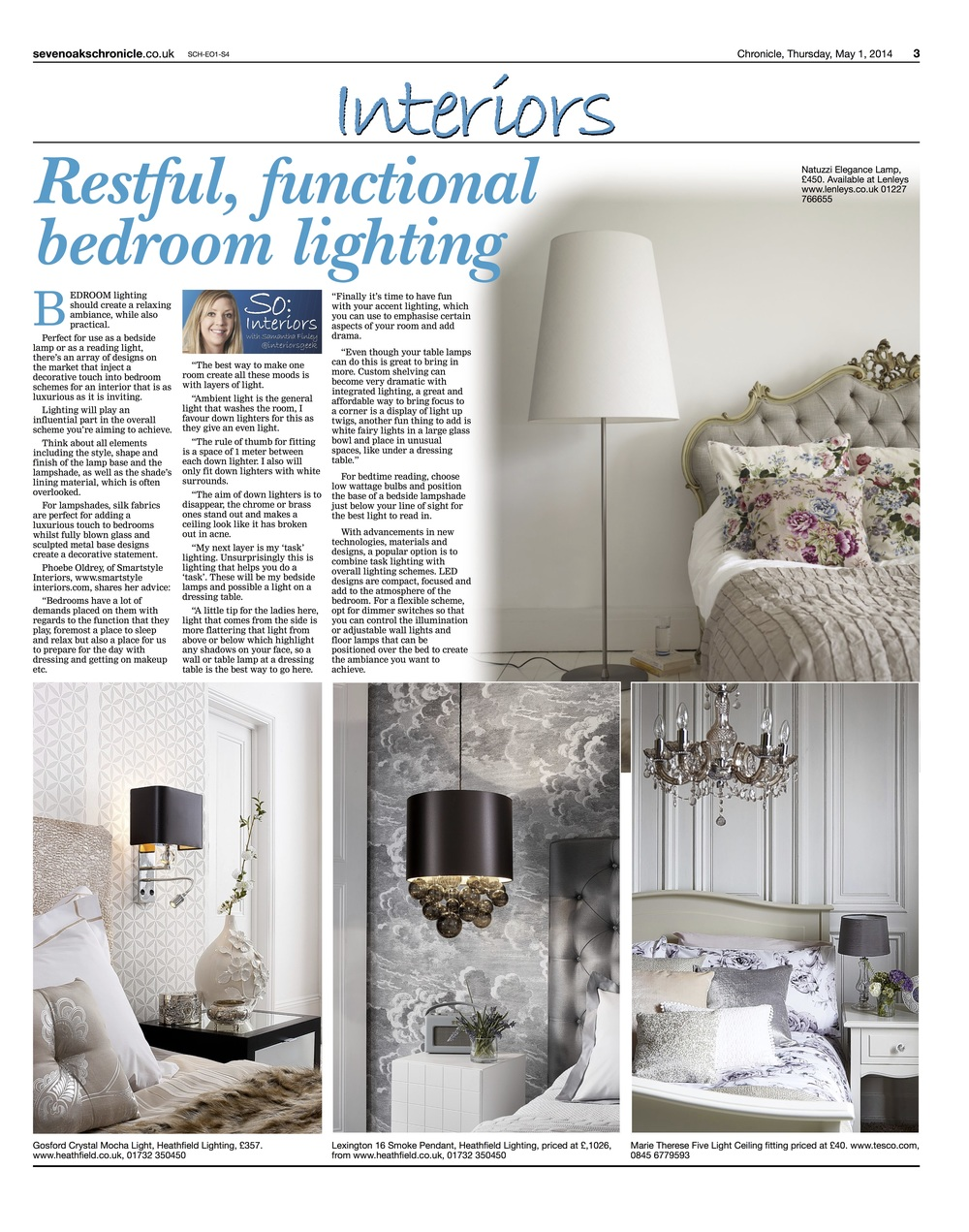 Smartstyle Press – Sevenoaks Chronicle Restful Functional Bedrooms
