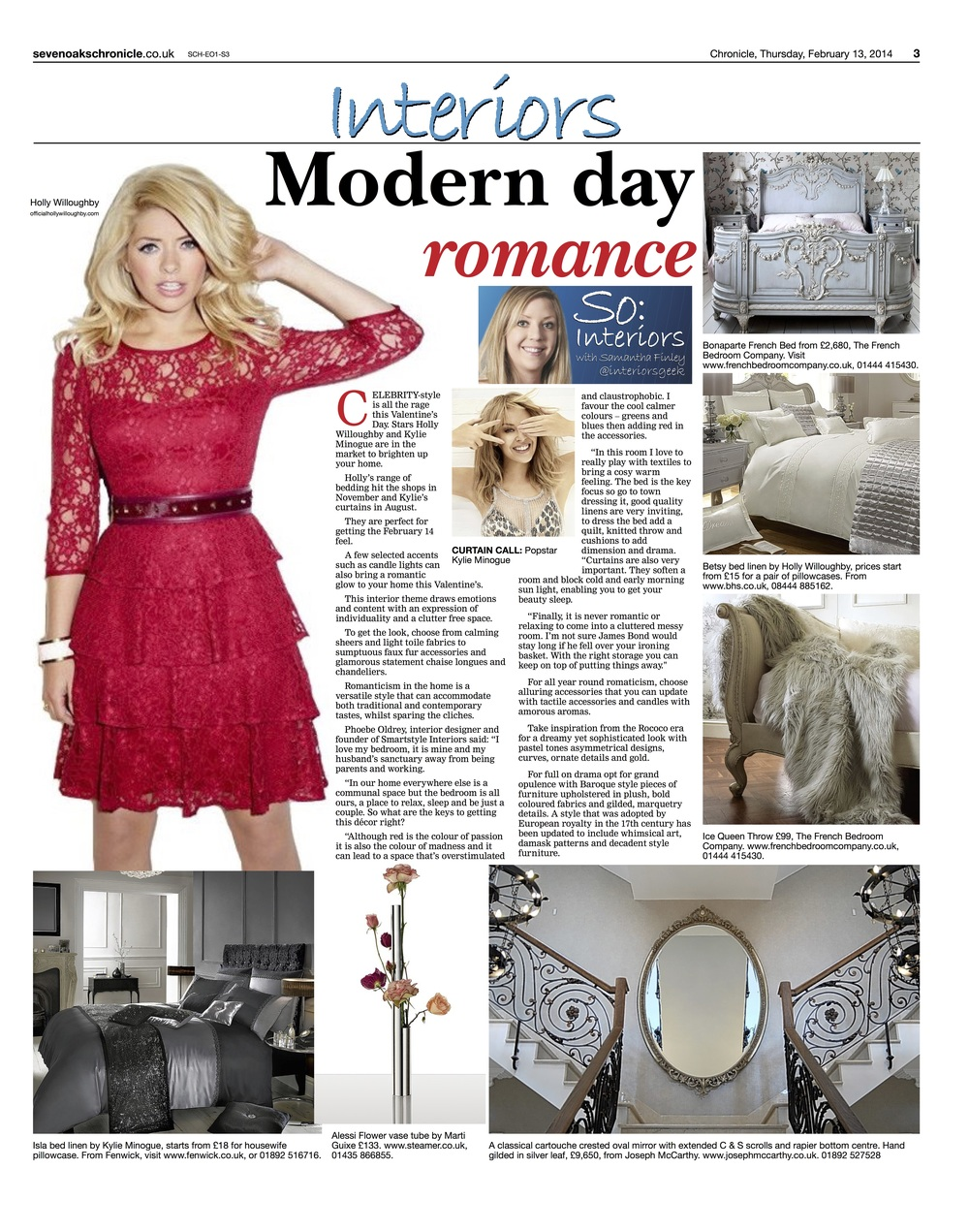 Smartstyle Press – Sevenoaks Chronicle Romantic Home Decor