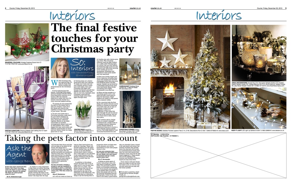 Kent and Sussex Courier Smartstyle Tips for Christmas Decor