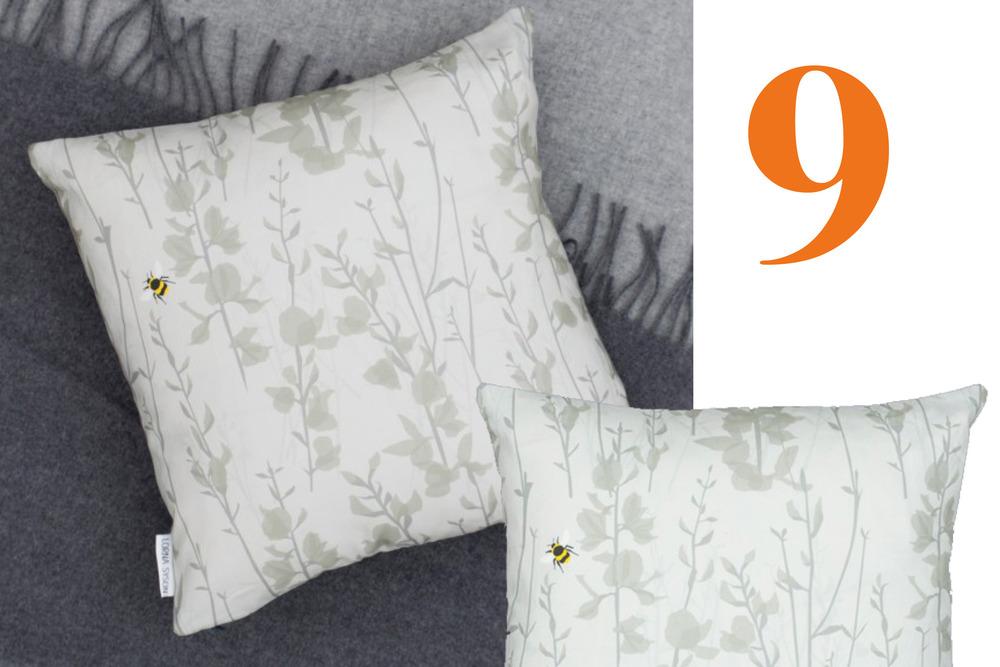 Lona Syson Broom and Bee Cushion
