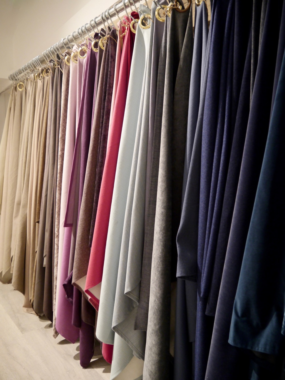 Beautiful Fabric Swatches at Button and Sprung Showroom by Smartstyle Interiors.jpg