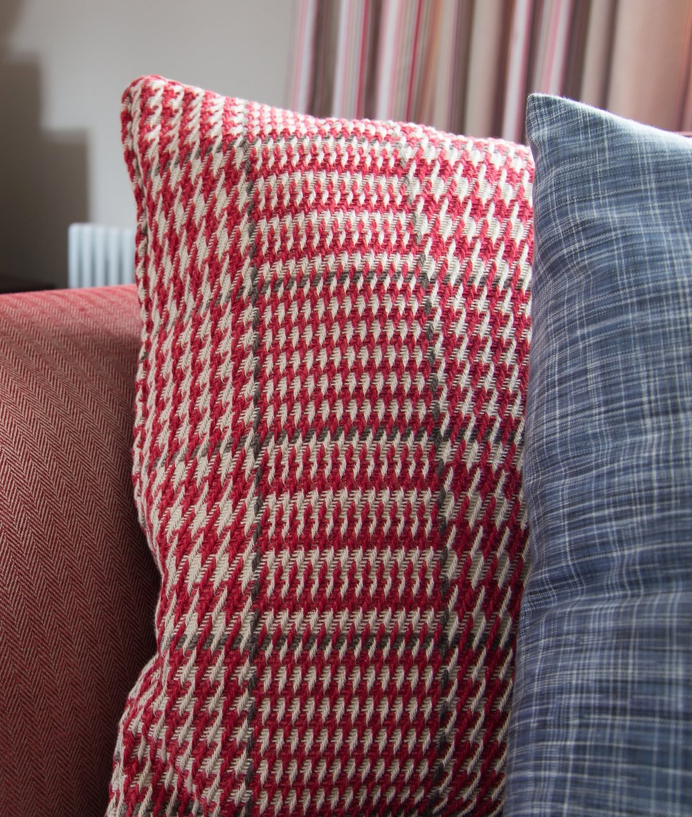 A Plush Red Pillow for Ultimate Relaxation in a Grade II Listed Holiday Home in Battle East Sussex – Interior Design by Smartstyle Interiors