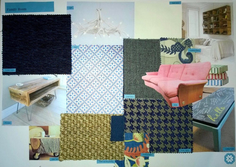 Interior Design Vision Board for a Holiday Home in Battle East Sussex by Smartstyle Interiors 1