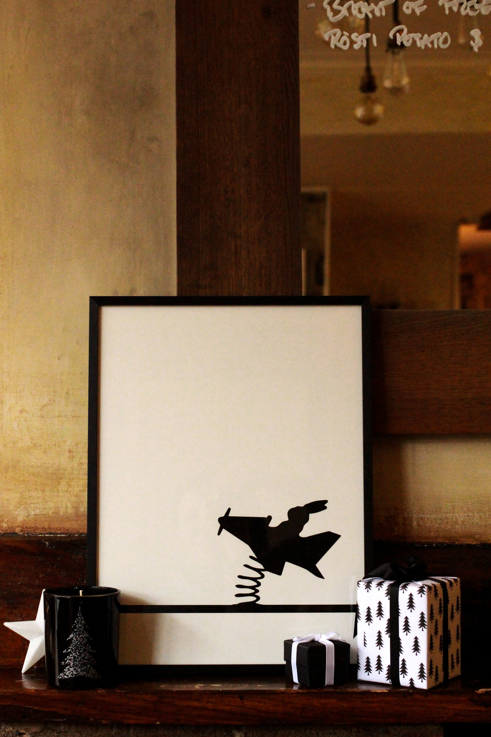 Flying Rabbit Screen Print by Ham Made – Christmas Gift Guide by Smartstyle Interiors.jpg