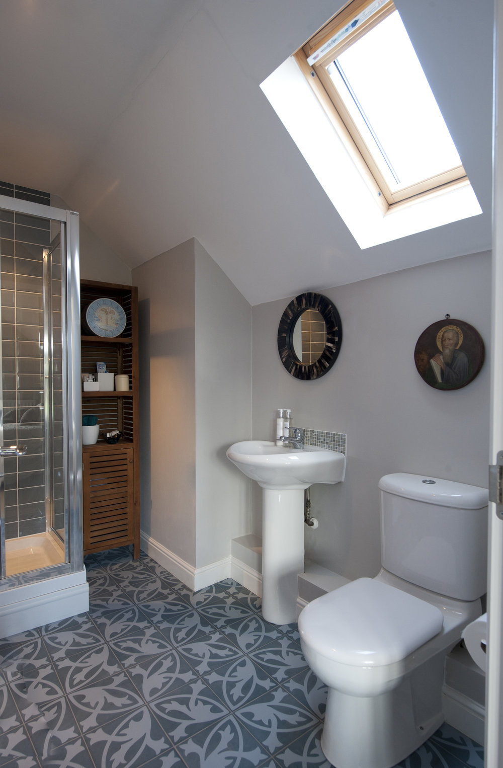 A bold bathroom floor might not be to everyones taste but it is right for this beautiful space – Interior Design by Smartstyle Interiors in Tunbridge Wells Kent.jpg