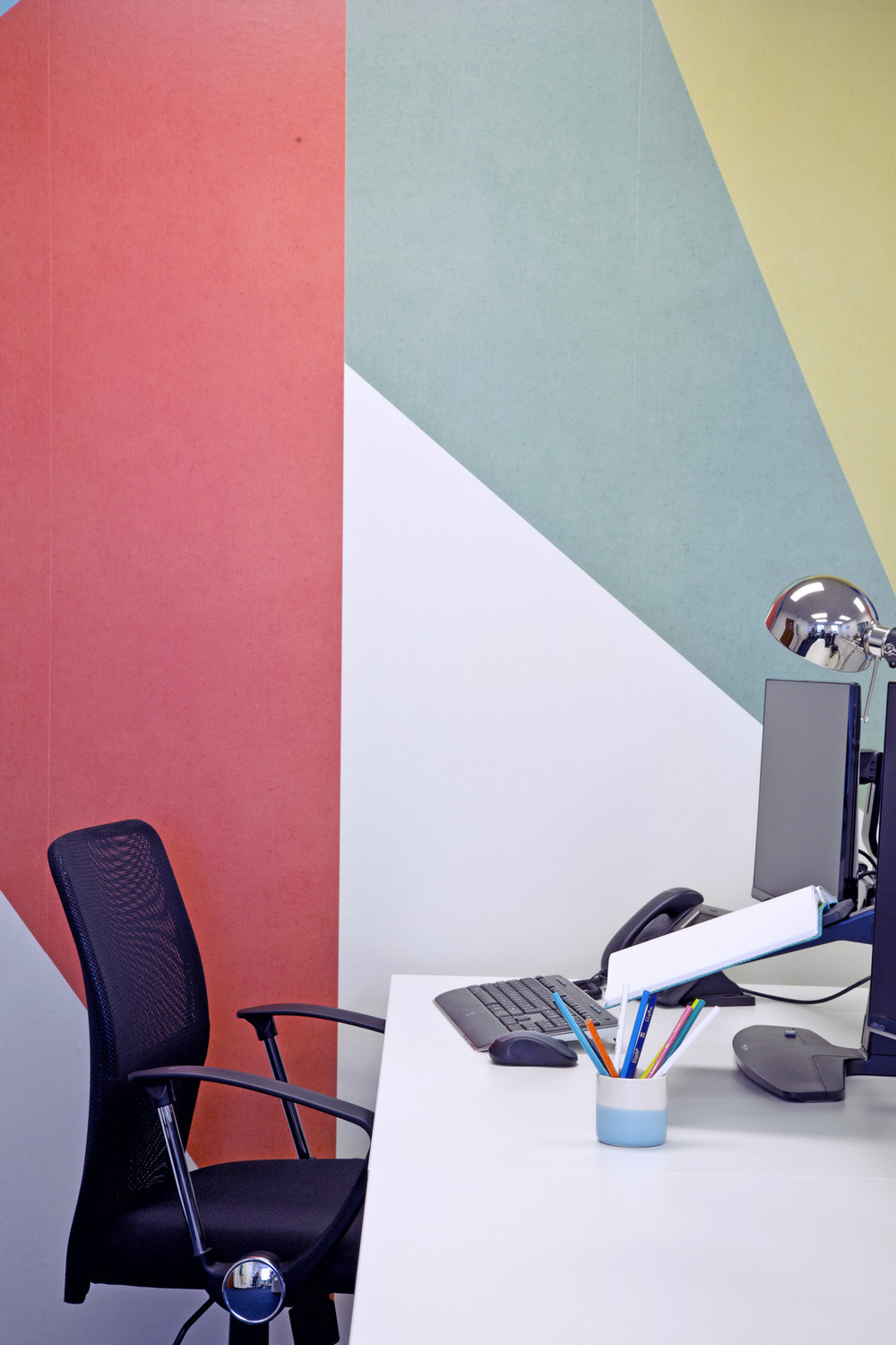 Colourful wallpaper at the Naylor Accountancy office – Interior Design by Smartstyle Interiors in Tunbridge Wells Kent.jpg