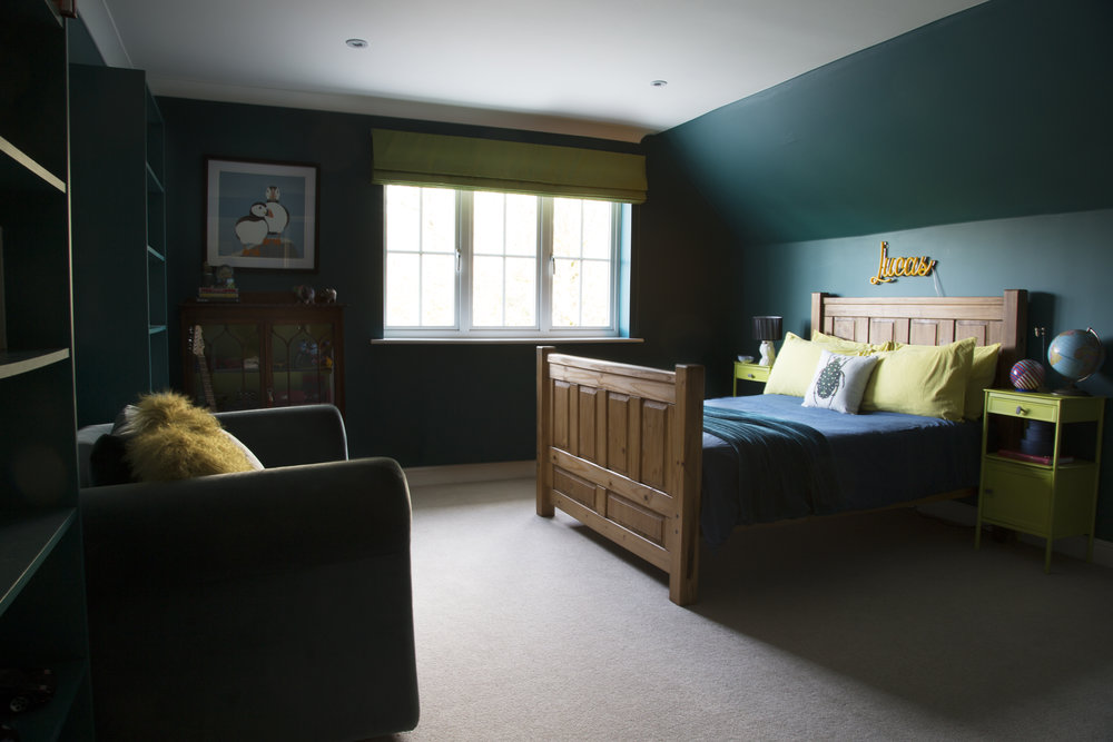 A Tweenage Bedroom - This bedroom in Tunbridge Wells Kent is the perfect place to grow from a child into a young adult - Interior Design by Smartstyle Interiors
