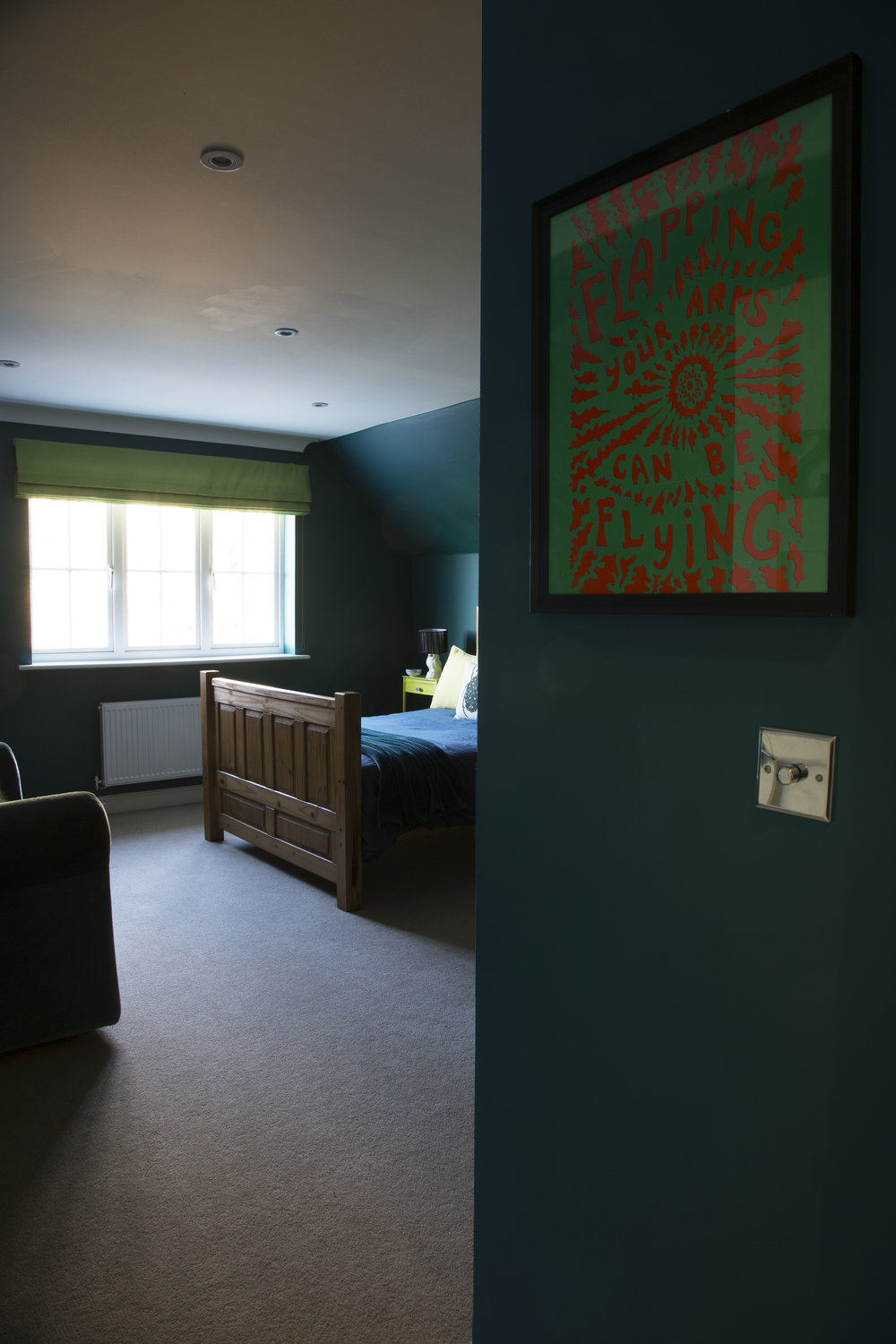 Framed art gives this tweenager's room in Tunbridge Wells Kent loads of personality - Interior Design by Smartstyle Interiors