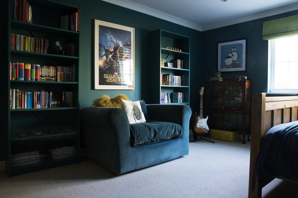 A stylish tweenager's room in Tunbridge Wells Kent - Interior Design by Smartstyle Interiors