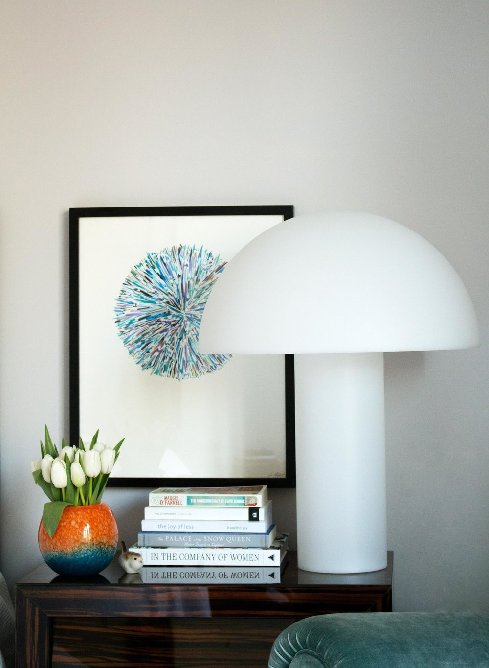 The Armand White Polypropylene Lamp by Habitat brings-up-an-updated-look-to-a-classic-design---Interior-Design-by-Phoebe-Oldrey